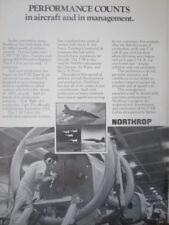 12/1971 PUB NORTHROP T-38 TALON TRAINER F-5 F-5E TIGER II COBRA ORIGINAL AD