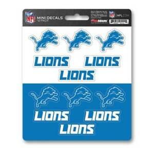 Detroit Lions - Set Of 12 Sticker Sheet