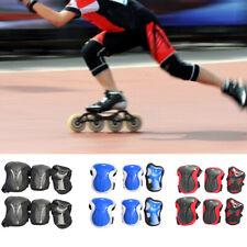6 Pcs Skateboarding Wrist Guards Skating Sports Knee Pads Protection Gear Set