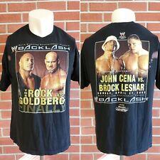 WWE THE ROCK GOLDBERG 2003 John Cena Brock Lesnar 2XL Wrestling T-Shirt Backlash