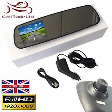 "2.8"" HD REAR VIEW MIRROR DASH CAM CAMERA RECORDER DVR HIGH DEFINITION CAR VAN"