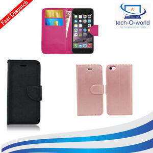 PU LEATHER FLIP PHONE WALLET BOOK CASE COVER FOR ALL APPLE IPHONE LOT