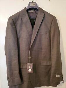 Tazio Ultra Slim Men's Grey 3 Piece Suit Jacket Pant Vest 46L 40W