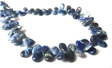 Natural Sodalite Gemstone 6X11-7X12mm Smooth Pear Briolette Jewelry Beads 4""