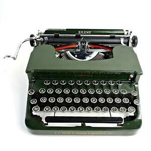 Green Smith-Corona Silent 1S Typewriter 1934