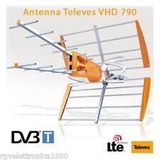 ANTENNA DIGITALE TERRESTRE DVBT DTT TELEVES VHD 790 HD FILTRO LTE 4G UHF PASSIVA
