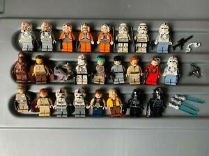 LEGO STAR WARS FIGURES BULK LOT X25, GENUINE MINIFIGURES & WEAPONS
