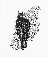 JAYCEE HORSE & WESTERN  EQUESTRIAN HORSE  PRINT  TEE SHIRT  - WHITE
