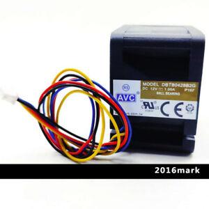1pcs AVC DBTB0428B2G 40*40*28MM DC 12V 1A 4CM 4Pin Cooling Fan