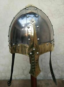 Viking Norman Knight Helmet With Liner Medieval Reproduction Helmet by gr 18 g
