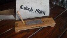 NOS Vintage CROCK STICK Knife & Scissors Sharpener In BOX