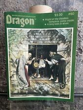 TSR The Dragon Magazine # 60 April 1982 - Flight of the Boodles Game Unpunched