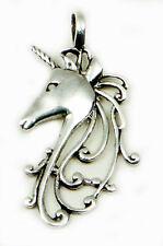 Einhorn Anhänger Silber 925, Pferd Kettenanhänger Sterlingsilber, zart, Schmuck