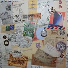 Travel Ephemera Pack Junk Journal Collage Paper Crafts Altered Art Scrapbook