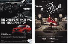 MAZDA magazine ad CX 5 red print clipping car LAZBOY Bijou URBAN ATTITUDES sofa