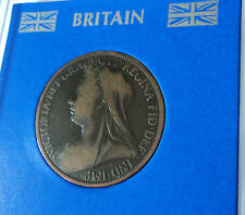 1895-1901 Queen Victoria Victorian Old Veiled Head 1d Old GB Penny Coin Gift Set