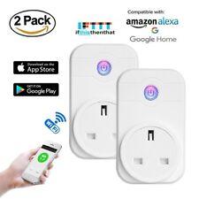 2 Pcs Smart Plug Wifi Socket, Wireless Switch Control, Timer Alexa IOS Android
