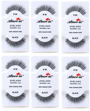 6 Pairs AmorUs 100% Human Hair False Long Eyelashes # 82 compare Red Cherry
