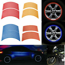 16 Strips Reflective Motorcycle Car Truck Rim Stripe Wheel Decal Tape Sticker
