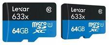 Tarjeta de memoria 633X de Lexar 64 GB microSDXC 95MB/S clase 10 + Estuche