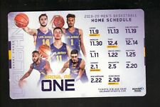 Albany Great Danes--2019-20 Basketball Home Magnet Schedule--Mohawk Honda