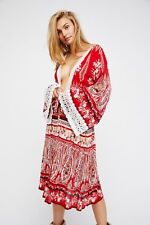 NWT Free People Crochet Trim Cover Up Robe By RAGA Sz. Small