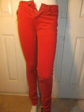 TRIPP CHERRY RED CORDUROY SKINNY JEANS SIZE 0 FROM HOT TOPIC