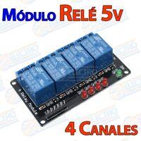 Modulo Rele 5v 4 canales 10A 250v activo nivel bajo - Arduino Electronica DIY