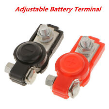 Positive & Negative Car Truck Battery Terminal Clamps Clip Connector With Cover