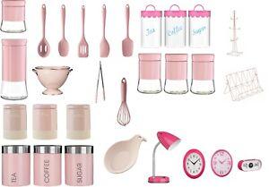 Kitchen Essentials Tea, Coffee,Sugar, Cutlery Set,Clock Spoon Accessories - Pink