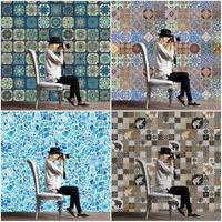 5M Self Adhesive Tile Art Boho Wall Decal Sticker Kitchen Bathroom Decor Vinyl