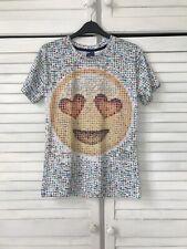"""Mr. 1991 Inc emoji Patrón Camisa Talla M - 34"""" pecho-Elástica"""