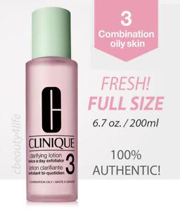 Clinique Clarifying Lotion 3 Combination Oily Skin 6.7 oz. / 200 ml - FRESH!
