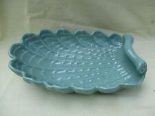 Vintage Abingdon Pottery Sea-Foam Green Console Shell-Shaped Dish