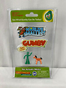 World's Smallest ~ Gumby and Pokey Bendable Mini Figures ~ New in Package