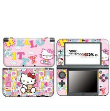 pink Hello Kitty DECAL Skin Sticker case Cover for Nintendo NEW 3DS XL LL NL29