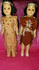 Vintage Native American Indian Dolls Moving Eyes....BEAUTIFUL Japan by Empress