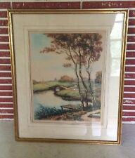 1936 L. Bouvray Signed Limited Edition 250 Art Print Edward Gross - Framed