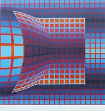 "VICTOR VASARELY ""OPTICAL CUBE 1975"" HAND SIGNED 114/125 silkscreen framed"