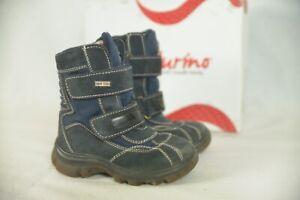Naturino Leder Stiefel Winterschuh gefüttert Jungen Größe 26 Farbe blau OVP
