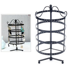 360 Rotating Earring Holder Stand Wrought Iron Jewelry Organizer Display Rack Us