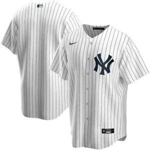 New York Yankees Nike Official 2020 Replica Home Jersey - White Pinstripe
