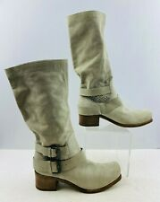 Ladies Vic Matie Gray Suede Square Toe Boots Size: 8.5