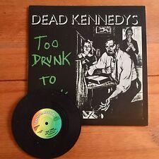 "Dead Kennedys - To Drunk   7""  Vinyl"
