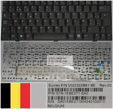 Clavier Azerty Belge MSI Wind U100 Akoya E1210 V022322BK1 S1N-1EBE271-SA0 Noir