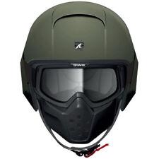 Shark Raw Blank Mat Motorcycle Helmet Matte Green Olive size Adult X Small X3