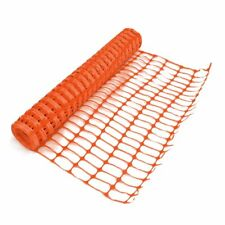 5m Orange Plastic Safety Barrier Netting. Mesh Fencing for Events & on Site.