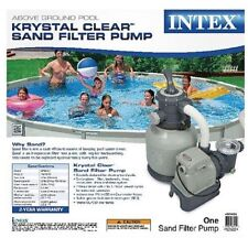 Intex 2,100 GPH Sand Filter Pump Swimming Pool Above Ground 35 GPM 2100 GPH NEW