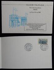 J9* Document Philatélique Reims Parc des Expositions 1987 (Timbre Europa n°2471)