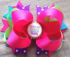 """Large """"Pretty Like Momma Spoiled By Daddy"""" Hair Bow With Free Shipping"""